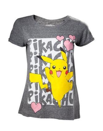 5587ba735f0e3 Camiseta Chica Pokemon Pikachu Love Xl