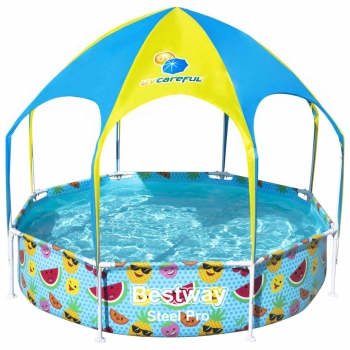 Piscina Elevada Para Niños Steel Pro Uv Careful 244x51 Cm Bestway