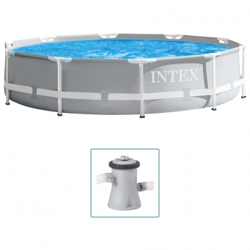 Set De Piscina Estructura De Prisma Calidad Superior 305x76 Cm Intex