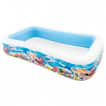 Swim Center Piscina Familiar Vida Marina 305x183x56 Cm Intex