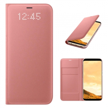 Funda Original Led Flip Wallet Rosa Para Samsung Galaxy S8
