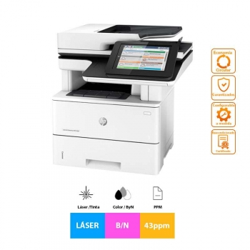 Impresora Láser Reacondicionado Hp Laserjet Enterprise Mfp M527dn, 43ppm, A4, B/n, Escáner, Copiadora, Fax, Grado A