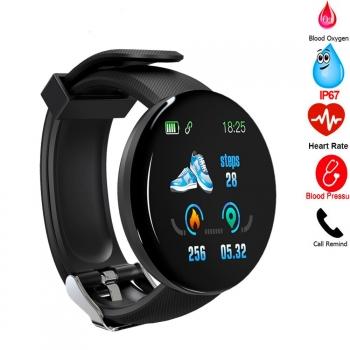Smartwatch Reloj Inteligente Bluetooth D18 Multi-función Unisex, Ip67, Rastreador Deportivo, Notificaciones Redes Sociales/ Whatsapp
