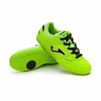 Botas Fútbol Joma Top Flex 811 Verde Fluor Niño Suela Lisa 88c5fe20cd612