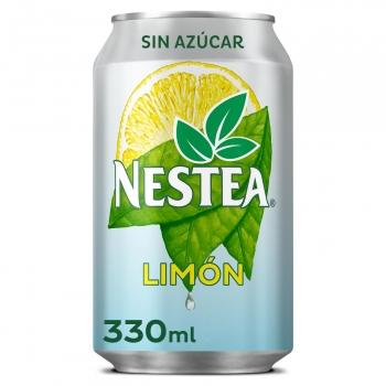 Nestea té negro con limón sin azúcar lata 33 cl.