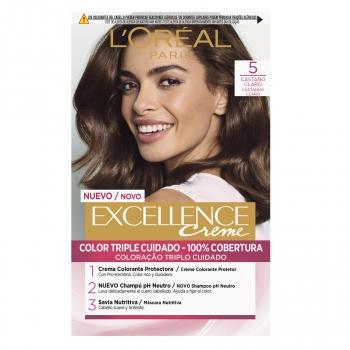 Tinte permanente tono 5 castaño claro L'Oréal Paris Excellence Creme 1 ud.