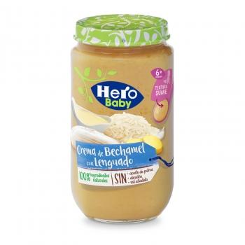Tarrito de crema bechamel con desde 8 meses Hero Baby sin aceite de palma 235 g.