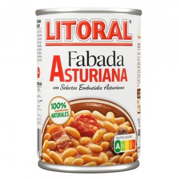 Fabada asturiana Litoral sin gluten y sin lactosa 435 g.