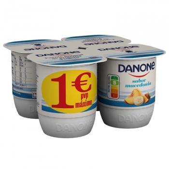 Yogur de macedonia Danone sin gluten pack de 4 unidades de 120 g.