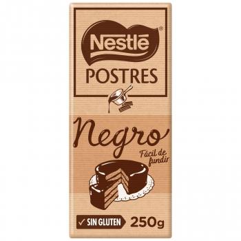 Chocolate negro para repostería Nestlé Postres sin gluten 250 g.