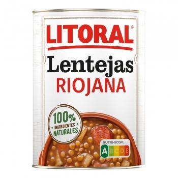 Lentejas a la riojana Litoral sin gluten y sin lactosa 430 g.