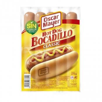 Salchichas cocidas Wieners bocadillo Oscar Mayer 275 g.