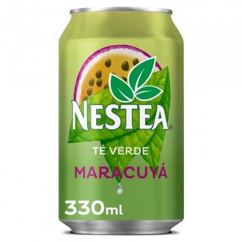 Nestea té verde sabor maracuyá bajo en calorías lata 33 cl.