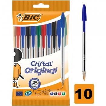 Bolígrafos Bic Cristal Surtidos 10 uds