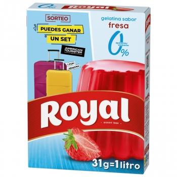 Gelatina sabor fresa sin azúcar Royal 31 g.