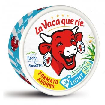 Queso fundido en porciones light La Vaca que Ríe sin gluten 375 g.