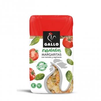 Pasta margaritas con tomate y espinacas especial ensaladas Gallo 450 g.