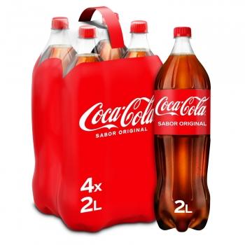 Coca Cola pack 4 botellas 2 l.