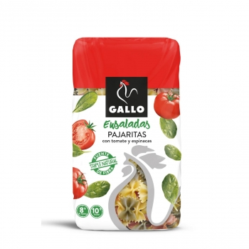 Pajaritas con tomate y espinacas Gallo 450 g.