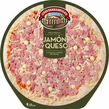 Pizza de jamón y queso Casa Tarradellas 405 g.