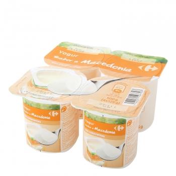 Yogur de macedonia Carrefour pack de 4 unidades de 125 g.