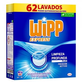 Detergente en polvo Wipp Express 62 lavados.