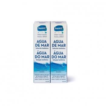 Spray para el cuidado de fosas nasales Agua de Mar Senti2 pack de 2 unidades de 100 ml.