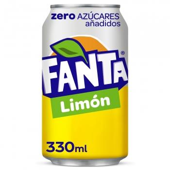 Fanta de limón zero azúcares añadidos lata 33 cl.
