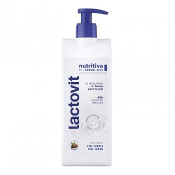 Crema corporal nutritiva para piel seca Lactovit 400 ml.