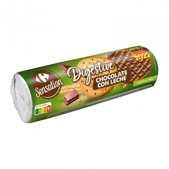 Galletas chocolate con leche Digestive Carrefour 300 g.