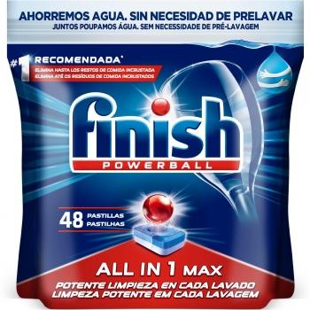 Lavavajillas máquina en pastillas All in 1 Max Finish Powerball 48 ud.