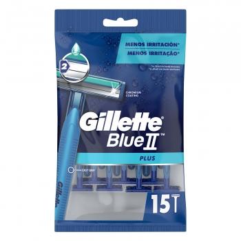 Maquinilla de afeitar desechable Blue II Plus Gillette 15 ud.