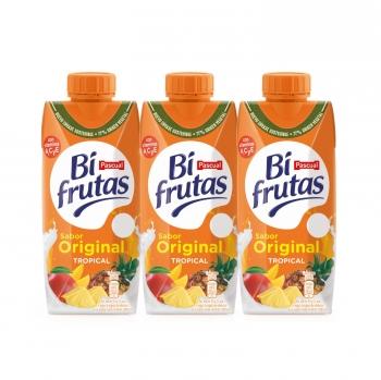 Zumo tropical Original Bifrutas pack de 3 briks de 33 cl.