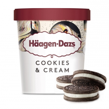 Helado de galletas y crema Häagen Dazs 460 ml.