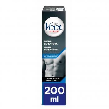 Crema depilatoria para pieles sensibles men Veet 200 ml.