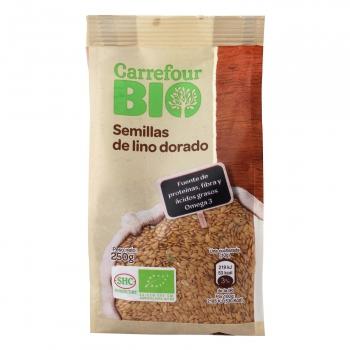 Semillas de lino dorado ecológicas Carrefour Bio 250 g.