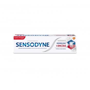Dentífrico para dientes sensibles blanqueante Sensibilidad & Encías Sensodyne 75 ml.