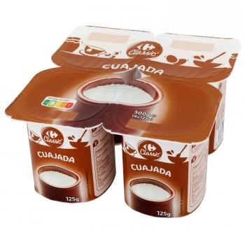 Cuajada Carrefour Classic' pack de 4 unidades de 125 g.