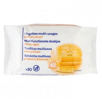 Toallitas multiusos aroma limón Carrefour 80 ud.