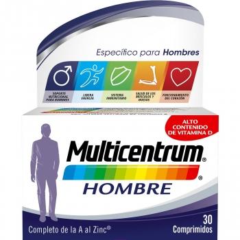 Multivitamínico y multimineral para hombre Multicentrum 30 comprimidos.