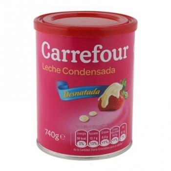 Leche condensada desnatada Carrefour 740 g.
