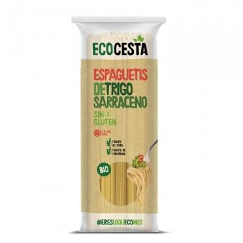 Espaguetis de trigo sarraceno ecológicos Ecocesta sin gluten 500 g.