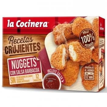 Nuggets de pollo, con salsa barbacoa La Cocinera 350 g.