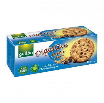 Galletas avena choco Digestive Gullón 425 g.