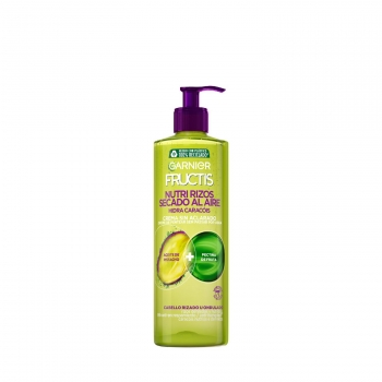 Crema sin aclarado capilar Nutri Rizos Contouring para cabello rizado u ondulado Garnier-Fructis 400 ml.