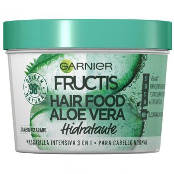Mascarilla capilar 3 en 1 Hair Food Aloe Vera hidratante para cabello normal Garnier Fructis 390 ml.