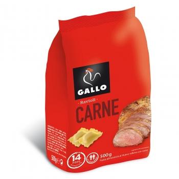 Ravioli de carne al huevo Gallo 500 g.