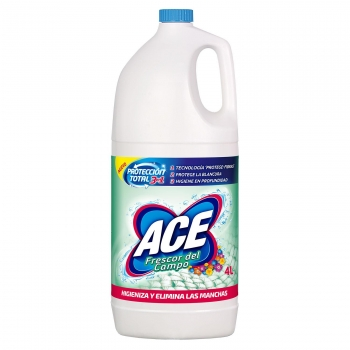 Lejía perfumada frescor del campo Ace 4 l.