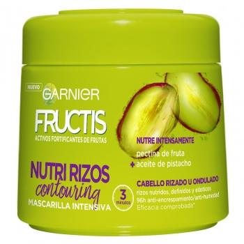 Mascarilla capilar hidra-rizos para cabello rizado u ondulado Garnier Fructis 300 ml.