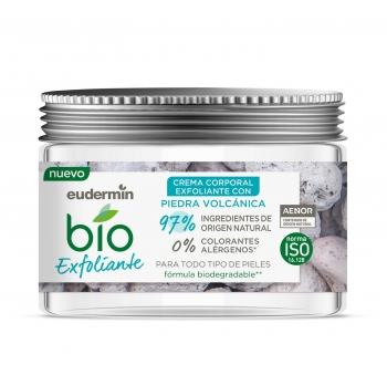 Crema corporal exfoliante con piedra volcánica ecológica Eudermin Bio 300 ml.